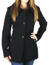 New Womens Jessica Simpson Black Wool Blend Coat Size Large