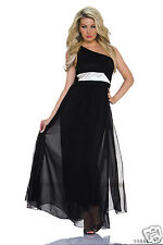 970-1 One-Shoulder-Maxikleid  Abendkleid Kleid Party Kleid  Gr. M 38 Schwarz .