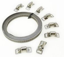 8pc Stainless Steel Hose Clamp Set Jubilee Clips Etc New Sale