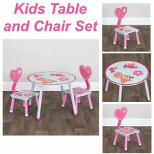 Kids Table and Chair Set Toddler Cubby House Bedroom Play Room Seat Pink Pixie