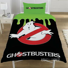 Ghostbusters Glow in the Dark Single Panel Duvet Cover Bed Set New Gift Slimer