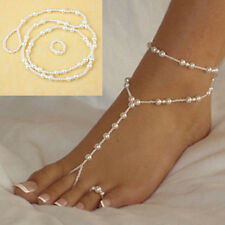 NEW Barefoot Sandal Foot Jewelry Summer Beach Bridal Pearl Anklet Chain Women