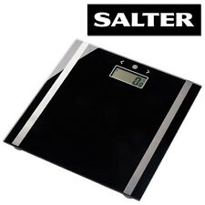 SALTER ULTRA SLIM GLASS ELECTRONIC LCD DIGITAL BODY ANALYSER BMI WEIGHING SCALES