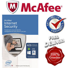 *SEALED* McAfee Internet Security NEW 2017 Unlimited Devices PC/Mac/Android