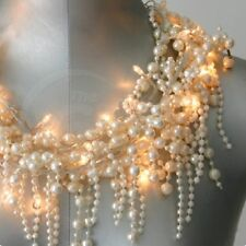 *NEW* String of 27 LED Fairy Lights BAROQUE PEARL Battery Operated