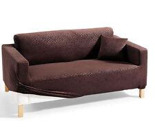 Tolle Stretch-Husse in Samt-Optik mit Ornament-Muster für ein 2er-Sofa ***NEU***