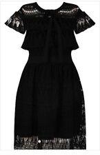 Crochet Lace Black Dress S/M/L Self Portrait Style