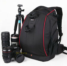 discourages theft Pro travel Camera DV Bag Backpack Black for Canon Nikon Sony