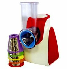 Lloytron 150W Fruit Vegetable Salad Maker Chopper Cutter Grater Slicer E5450 Red