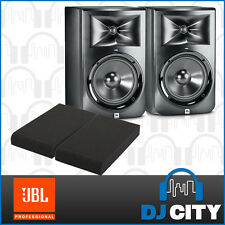 "JBL LSR308 8"" Active Monitor 2-way Studio Powered Speakers PAIR  w/ Monitor Pads"