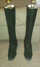 Russell & Bromley Black Suede Knee High Boots Size 39.5- Excellent Condition