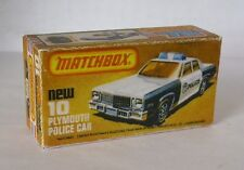 Repro Box Matchbox Superfast Nr.10 Plymouth Police Car