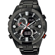 Edifice ERA201BK-1A. Tough Vibration Resist Mens Black Steel Chronograph Watch.