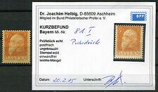 Bayern 30 Pfg. Luitpold 1911** Probedruck Michel 81 I P Befund (S10725)