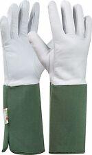 Tommi Garden gloves Rose, Size 10, dark green, Goat leather glove