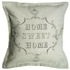 Cotton Linen Home Sweet Home Cushion Cover Rustic French Farmhouse / Chateau