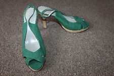 New Ladies Green Principles Shoes Size 39 UK 6 Strappy Heels