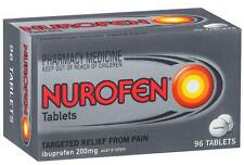 New 200mg x 96 Nurofen Tablet Ibuprofen Pain Reliever Inflammation Reducer