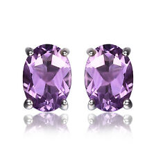 JewelryPalace1.4ct Natural Amethyst Birthstone Stud Earrings 925 Sterling Silver