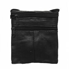 Ladies Genuine Leather Cross Body Shoulder Bag Neck Pouch Bag With ID Holder