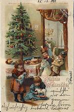 Halt gegen das Licht! Weihnachten, Kinder in Uniform,Spielzeug, gel. 1899, Schön