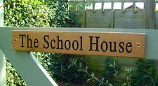Solid Oak Personalised Carved HOUSE NAME/GATE Sign/Outdoor Hardwood Plaque