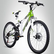 24 Zoll Mountainbike Bergsteiger Montreal Shimano Scheibenbremse Fully MTB