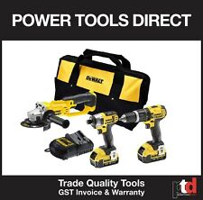 NEW DEWALT 18V CORDLESS 3 PIECE KIT - HAMMER DRILL/IMPACT DRIVER & ANGLE GRINDER