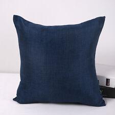 """Home Decor 17x17"""" Throw Pillow Case Sofa Cushion Cover Car Seat Waist Navy"""