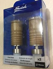 �� Curtain Pole Ends Finials *• SWISH Chrome Oak Curtain Rail Ends 19mm