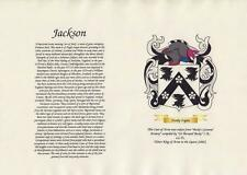YOUR FAMILY COAT OF ARMS & SURNAME HISTORY PARCHMENT SCROLL & FREE A4 SCROLL