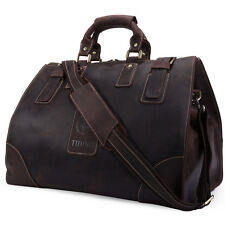 Tiding VINTAGE Men's Cowhide Leather Tote Travel Bags Luggage Duffle Overnight