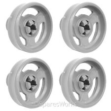 4 x Genuine Currys Lower CDW60W10 Basket Rack Wheel Dishwasher Wheels Spare Part