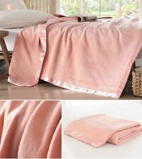 100% Pure Silk Blanket 220x240cm 2.2kg Super King Size Sofa / Bed Throw Pink