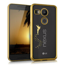 TPU SILICONE CRYSTAL CASE FOR LG GOOGLE NEXUS 5X GOLD SOFT COVER BUMPER SILICON