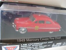 `49 Mercury Coupe  FIRE CHIEF Feuerwehr  1949** Motor Max 1:43 OVP