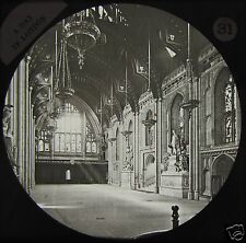 Glass Magic Lantern Slide INTERIOR OF THE GUILDHALL C1890 PHOTO LONDON