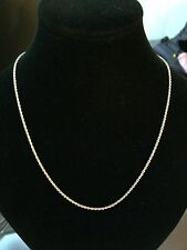 Beautiful & Sparkly 14K Yellow Gold Diamond Cut Rope Chain 19 Inches NEW QVC