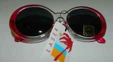 DEADSTOCK NEW VINTAGE PINK JACKIE O STYLE OVAL SUNGLASSES EIGHTIES 80S 90S