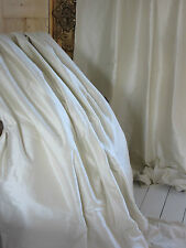 Opulent CREAM / IVORY SILK thermal blackout curtains Can be interlined. Huge