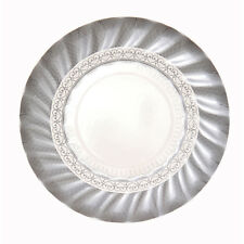 12 x small Silver Paper Plates - Silver Wedding 25th Anniversary Wedding Party