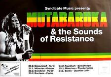 MUTABARUKA & THE SOUNDS OF RESISTANCE TOUR POSTER / KONZERTPLAKAT