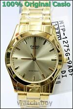 MTP-1275G-9A Gold Casio Men's Watch Stainless Steel Analog Water Resistant New