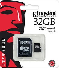KINGSTON 32GB MICRO SD SDHC 45MB/s CLASS 10 UHS-I 32 GB SPEICHERKARTE