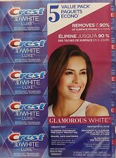 5x120ml=1kg./35oz/2.20lb, Crest 3D White Toothpaste, BIGgest size Made in CANADA