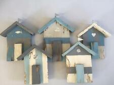 New RUSTIC BEACH HUTS WALL ART Seaside Nautical Coastal Shabby Chic Home Decor