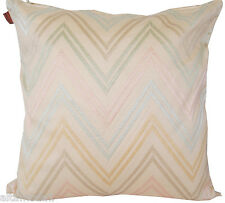 MISSONI HOME EMBROIDERED COTTON SATEEN PILLOW JAYLIN 213 40x40 cm MADE IN ITALY