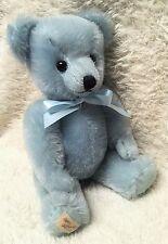 """10"""" light blue mohair teddy bear by Deans-UK!"""