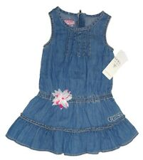 NEW GUESS DENIM BLUE DRESS SIZE 5 YEARS ADORABLE  AUTHENTIC
