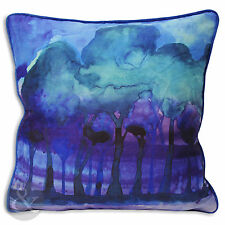 """Contemporary Art Deco Cushion Cover - Purple Teal Blue Scatter Cushion 18"""" x 18"""""""